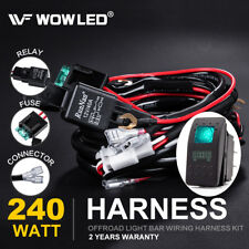 WOW - LED Light Bar Wiring Harness Loom Relay Kit with 4Pin Rocker Switch Truck