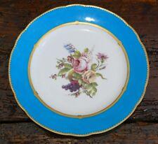 Assiette XVIII ème En Porcelaine De Sèvres Au Bouquet De Fleurs, Lettre Date H P