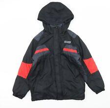 Preqorn Boys Black Colourblock  Basic Coat  Size 11-12 Years