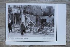 1 Blatt 1914-18 Lyck  Ełk Polen Ermland Masuren 1.WK WWI zerstörtes Haus Soldat