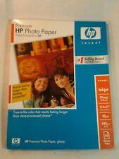Genuine HP Premium Photo Paper Glossy 8.5x11 Inkjet C6979A - Open Box