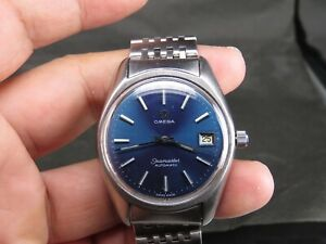 VINTAGE OMEGA SEAMASTER 1012 17J  STAINLESS STEEL SS SWISS DATE AUTO MENS WATCH