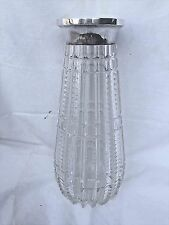 LARGE ANTIQUE GERMAN HANDCUT CRYSTAL VASE WITH 800 SILVER TRIM