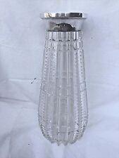 Large Antique German Handcut Crystal Vase With 800 Silver Trim