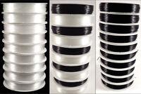 Lot de 10 Bobines Fil de Nylon Elastique 0,5mm – 10x 20 Mètres Couleurs au choix