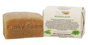 1 piece African Moringa Soap, 100% Natural Handmade, 120g