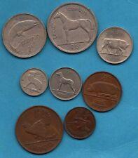 8 x diverse Irlandese Pre-decimale MONETE. in EIRE.