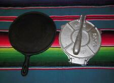 TORTILLA PRESS, IRON GRIDDLE SET CAST IRON TORTILLADORA