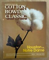VINTAGE 1979 NCAA COTTON BOWL PROGRAM - NOTRE DAME - MONTANA CHICKEN SOUP