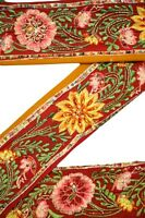 Vintage Indian Trim Ribbon Saree Border Embroidered  Deco Craft by The Yd