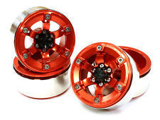 C25618RED Integy 1.9 Size Billet Alloy 6 Spoke Wheel(4)High Mass for Crawler