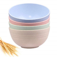 Unbreakable Cereal Bowls - 24 OZ Wheat Straw Fiber Lightweight Bowl Sets 4 - & -