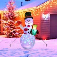 Christmas Inflatables 5ft Xmas Garden Decoration Outdoor Inflatable Snowman Blow