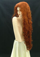 "Super Long Curly Wig! Wild Girl!   Fox  Red   40""    D10"
