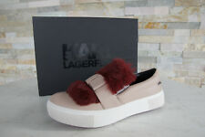 Karl Lagerfeld 38 US 7 UK 5 Slippers Fur Slip-on Shoes Pink Formerly