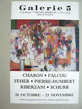 SCHURR FALCOU FEHER PIERRE-HUMBERT RIBERZANI CHARON Affiche Fontainebleau