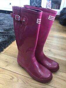 Kangol Womens Tall Wellington Boots/ Wellies. Pink. Size 6