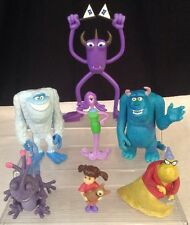 Disney Monsters Inc University Figures Lot 7 Boo Sully Randall Roz Cake Toppers