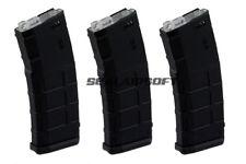 CYMA 150rds PMAG Mid-Cap Airsoft Magazine For M4 / M16 AEG Series Black M127 3PC