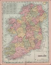 IRELAND, ANTIQUE MAP, ORIGINAL 1894