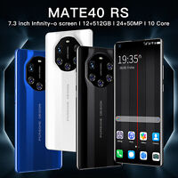 "Mate40 RS 7.3"" 5G Smartphone Android 10.0 10-Core 5600 mah 12GB+512GB Phone"