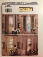 Vintage Butterick Pattern 4277 Waverly - Window Panels New Uncut - Home Decor