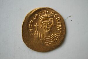 ANCIENT BYZANTINE GOLD COIN PHOCAS. SOLIDUS 602 - 610 A.D.
