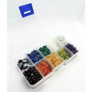 Gemstone Chips Chakra Set 001 | 10 Types of Gemstones For Chakra Jewellery