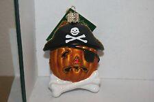 Halloween Pirate Pumpkin Old World Christmas glass ornament