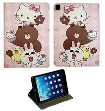 For Apple iPad mini 1 2 3 4 5 Hello Kitty New Anime Smart Anime Case Cover +