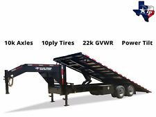 Brand New Texas Pride 8.5' x 25' Hydraulic Power Tilt Trailer, 22k gvwr
