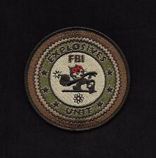 FBI Explosives Unit Felix with Bomb Detective Police Patch