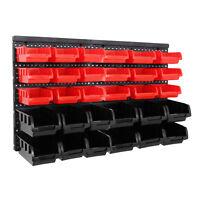 32tlg Stapelboxen Wandregal Set Werkstatt Lager Schraubenbox Werkstattregal Box
