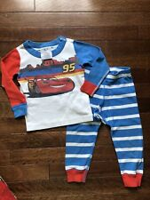 Hanna Andersson Disney Cars Pajamas Organic Cotton 80 18-24 Boy Baby Euc
