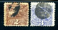 USAstamps Used FVF US 1869 Pictorial Issue Pony & Locomotive Scott 113, 114