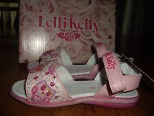 NIB Little Girls Size 26  US 9 Lelli Kelly Pink Fantasy Owls Sandals Beads
