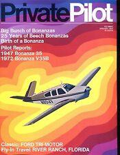 Private Pilot Magazine January 1972 Beech Bonanzas EX No ML 121916jhe