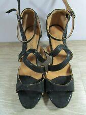 ***Women's Qianjiaowu Size 9.5 Black Strappy 3 1/2