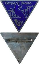 4° Bataillon de Chasseurs, Corps Franc, émail, dos lisse gravé, A.Augis St.B.