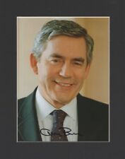 GORDON BROWN PRIME MINISTER MP ORIGINAL HAND SIGNED MOUNTED AUTOGRAPH PHOTO COA