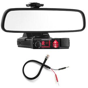 Mirror Mount Bracket + Mirror Wire Power Cord for Valentine V1