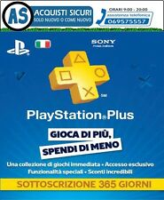 PLAYSTATION PSN PLUS 12 MESI ABBONAMENTO ANNUALE PSN PLUS 12 ORIGINALI