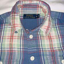 VTG Polo Ralph Lauren Aztec Navajo Button Up Flannel Shirt Mens Small MultiColor