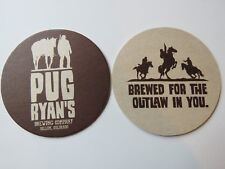 Beer Brewery Coaster ~ PUG RYAN'S Brewing Co & Steakhouse ~ Dillon, COLORADO