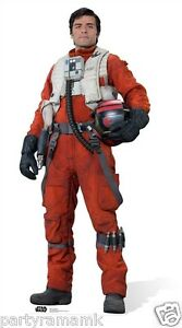 Star Wars The Force Awakens Poe Dameron Lifesize Cardboard Cutout With Stand
