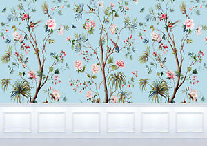 Dolls House Wallpaper Mural 1/12th  scale Blue & White Quality Paper #24B