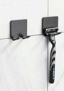 2 Pcs Punch Free Razor Holder Storage  Wall Men Shaving Shaver Shelf Bathroom