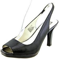 Anne Klein Jarry Women US 9 Black Slingback Heel Pre Owned 1782