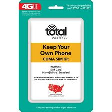 Total Wireless Keep Your Own Phone 3-in-1 Prepaid SIM Card Kit