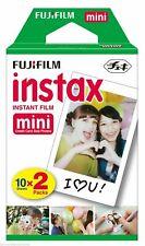 Fujifilm fuji instax mini colour instant film twin pack 2 x 10 Shots